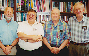 Left to right: A. Bernstein, I. Nassi '74 PhD, J. Heller, D. Smith